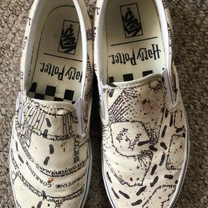 Harry Potter Vans Slip On Shoes